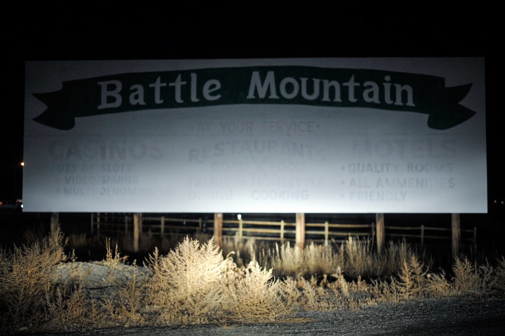400 years ago Spanish missionaries introduced horses, christ, and a human traffic market. 160 years ago, escaping persecution, the Mormons claimed chunks of Utah Territory and began to build an empire in this raw wilderness. Then the railroads came.  - Battle Mountain, Nevada. Off of Interstate 70.