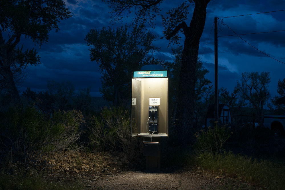 Out of order payphone at the Green River campground. Dinosaur National Monument, Jensen, Utah.