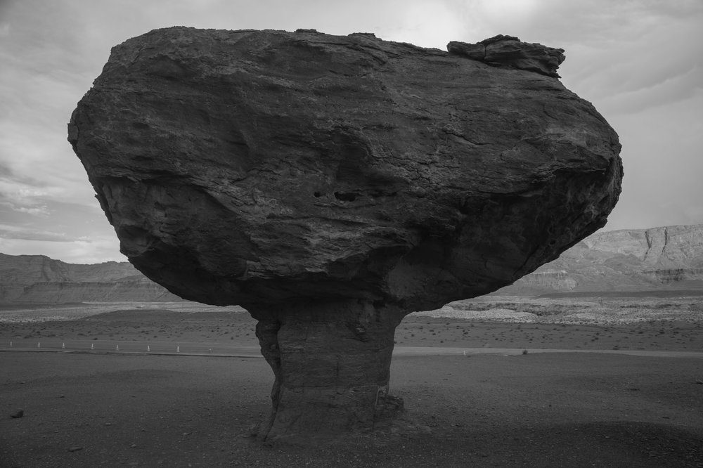 A balanced rock near the Colorado River. Arizona.