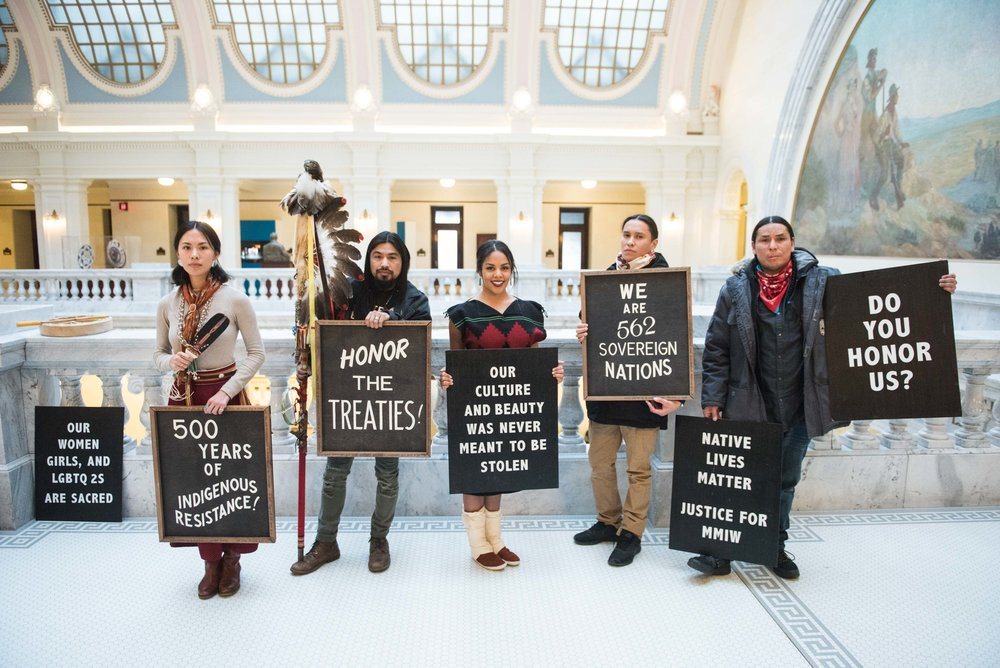 "First Nation activists came to testify at the Utah State Capitol against HJR1, legislation that will exclude Utah from the Antiquities Act. The Antiquities Act was intended to allow the President of the United States to set aside certain natural areas for ""the protection of objects of historic and scientific interest"" for their preservation. Utah would join Wyoming and Alaska as the only states requiring congressional consent to create national monuments. Monday, February 26, 2018."