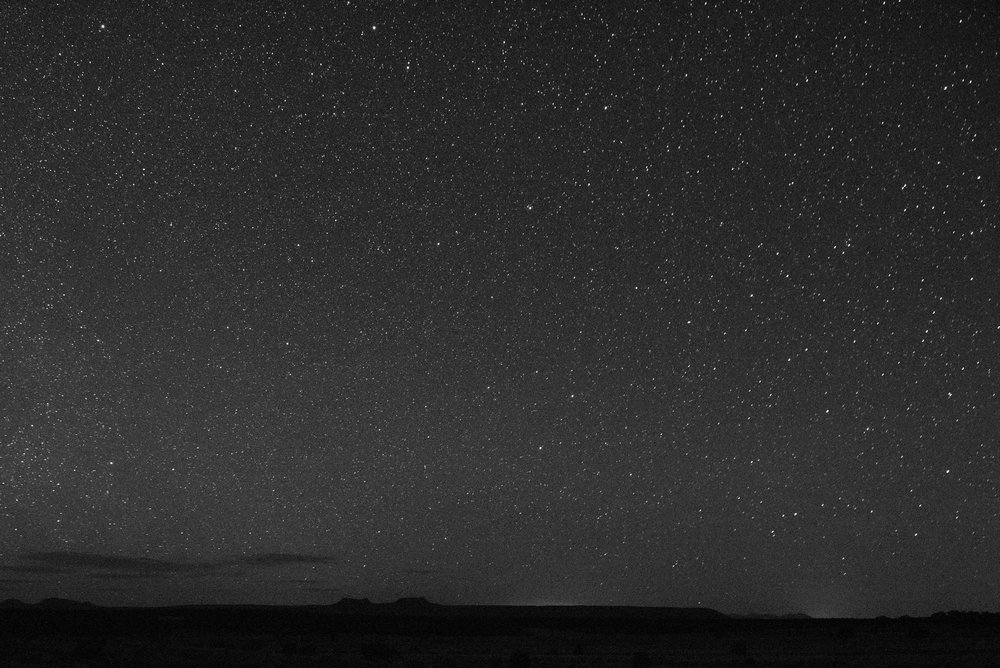 Bears Ears night sky. Looking north.