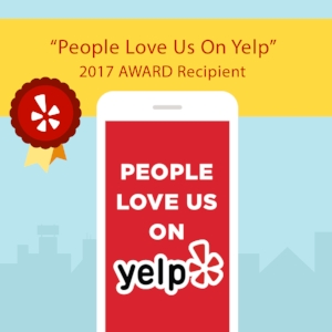 "We are thrilled to be recognized by  Yelp New Jersey  with the ""People Love Us On  Yelp "" 2017 award!  This award stems from the great reviews we've received from our clients. We want to thank our customers for helping us receive this award. We look forward to another incredible year of caring for the pets of Jersey City!"