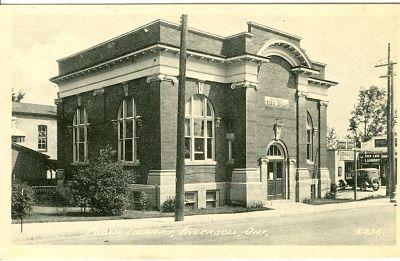 Ingersoll Public Carnegie Library - 1910