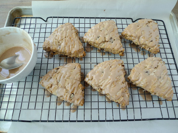 ... Raisin Scones with Cinnamon Glaze, low-FODMAP, gluten free, dairy free