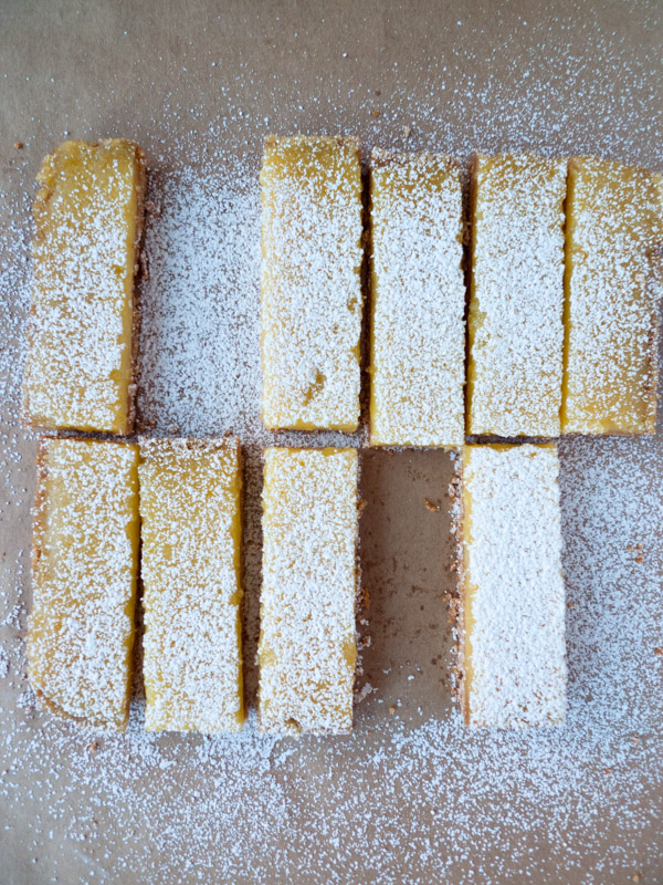 Lemon Bars with Almond Crust Low-FODMAP, gluten free, dairy free