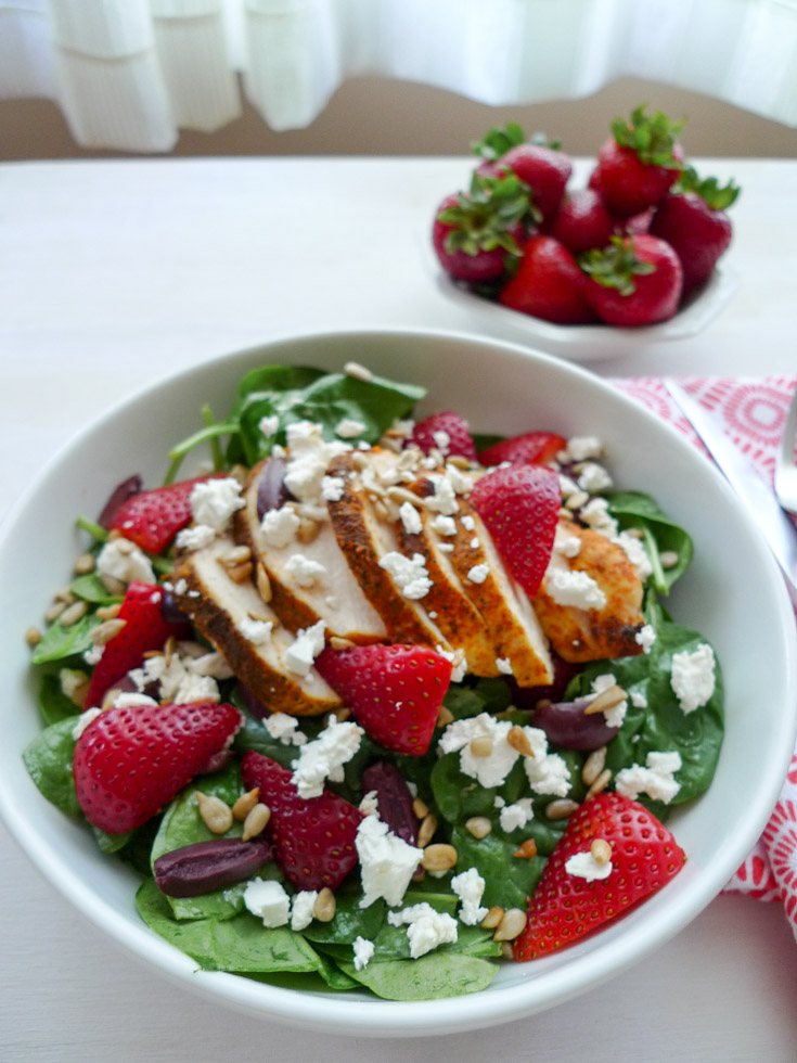 Strawberry-Spinach-Feta Salad with Classic Vinaigrette Low-FODMAP