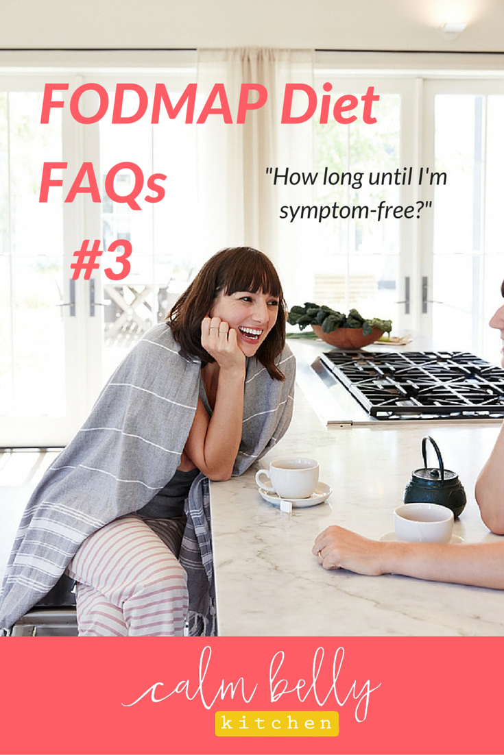 "In part 3 of the FODMAP Diet Frequently Asked Questions series, I'll answer the common concern, ""When will I start feeling better on the FODMAP diet?"" If you're in the elimination phase, this can be a real struggle, and the answer might surprise you. I'll also explain the related problem of feeling even worse when you first begin doing the FODMAP elimination diet. Click through to watch the video or read the key points now!"