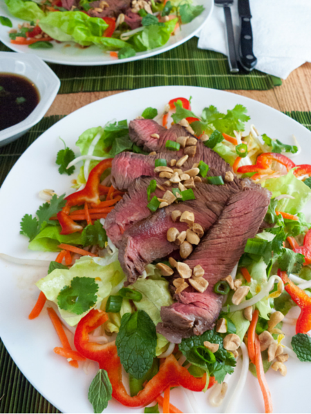 Thai Steak Salad from the Calm Belly Kitchen Cookbook: Crave-Worthy Low-FODMAP Recipes for Everyday