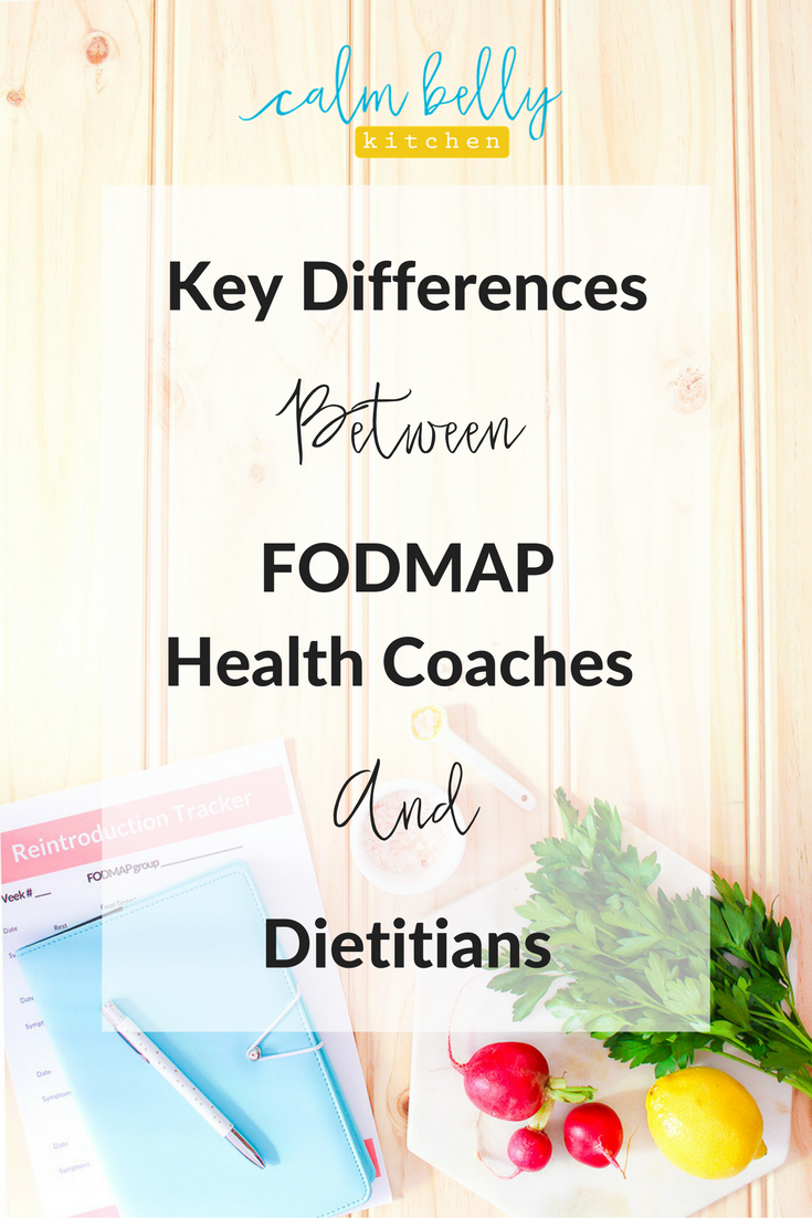 Working with an IBS expert can make or break your success on the FODMAP diet. But finding someone who knows her stuff is challenging! Health coaches often work with clients from all over the world and can provide the support you need, but how are they different from dietitians? And which one is right for you? Read the blog post to learn how to find help to beat IBS!