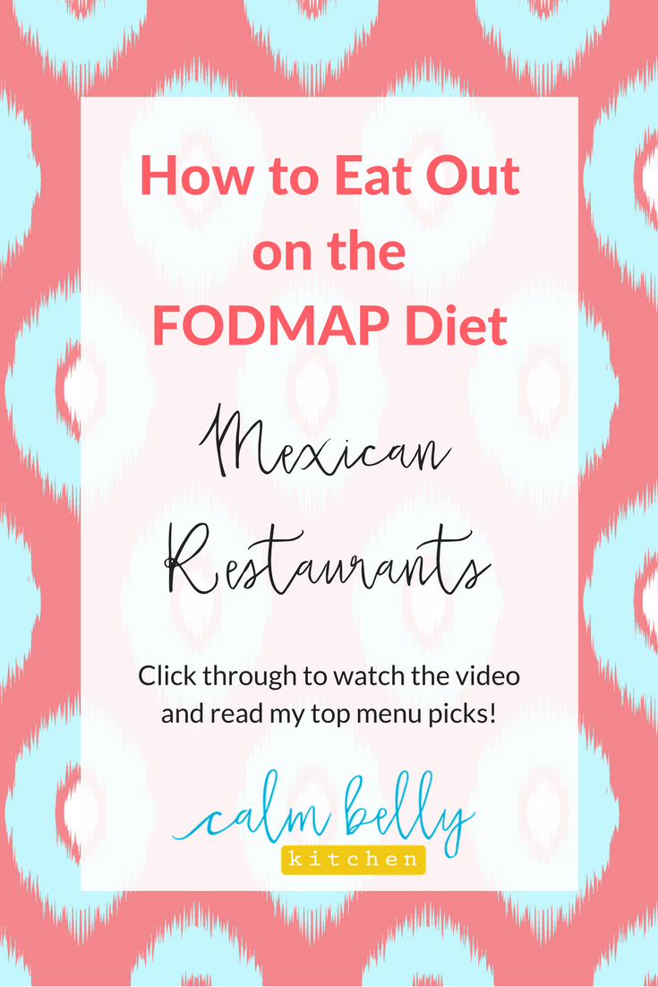 You can still enjoy Mexican food if you're doing the low FODMAP Diet for IBS. Click through to learn the best menu options and strategies so you don't have to miss out.