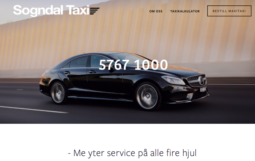 Sogndal Taxisentral som me og har designa logoen til- er med.