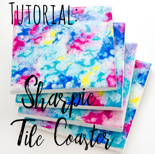 This sharpie craft idea will keep you busy for hours making lots of DIY tile coasters! Create your own colourful tile coasters to brighten up your home. They're easy to make and really effective!