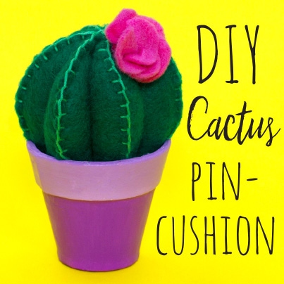Learn how to sew your own fun cactus pin cushion! This quirky cactus craft will look great in your home and will also come in handy when sewing.