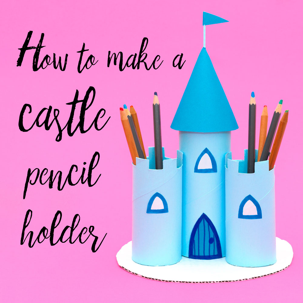 Make a princess castle pencil holder out of old toilet roll tubes! This craft is perfect for a little girl and comes in handy when organising pens and pencils.  There's a video at the end of his post showing you how I made this princess craft!