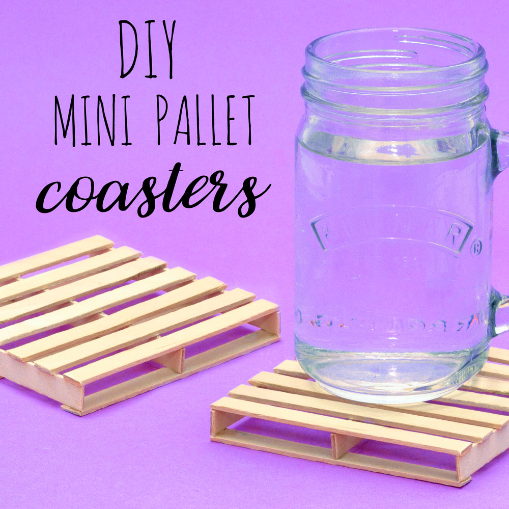 Make your own rustic wooden pallet drinks coasters out of lolly sticks! This craft is surprisingly quick to make and will look great on the coffee table.