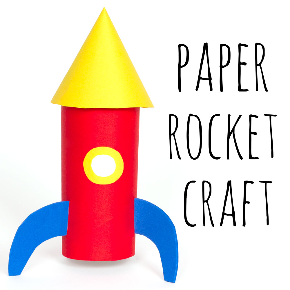 Kids will love making their very own space rocket out of paper and a recycled toilet roll tube! This craft tutorial is a fun and simple way to keep the children busy.