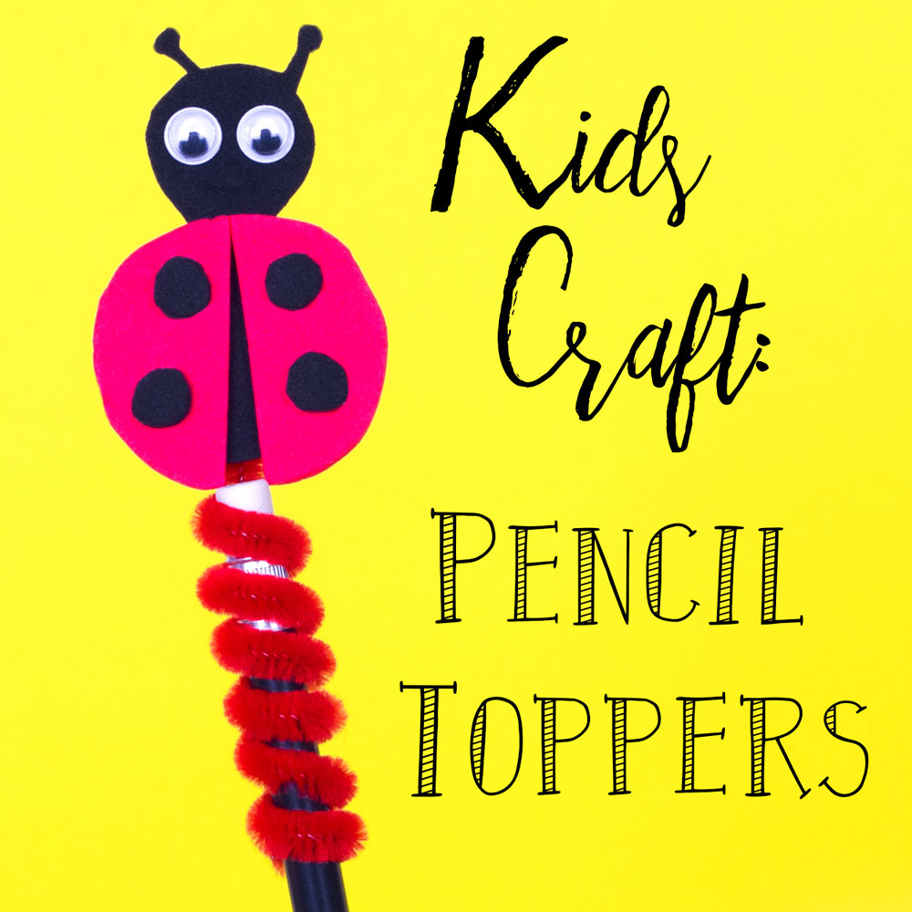 Kids can make their own funky bug pencil toppers with this quick and simple craft idea. Follow the steps to craft a ladybird pencil topper out of foam and a pipe cleaner. You could even make more bug friends - a bumble bee, a caterpillar and lots more!