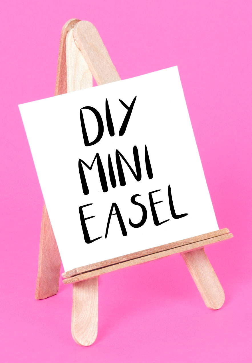 Once all the glue has dried you can display your artwork on you diy mini wooden easel! You could even paint your easel to make it bright and colourful.  Subscribe to my  newsletter  to receive fun craft ideas, offers and freebies!
