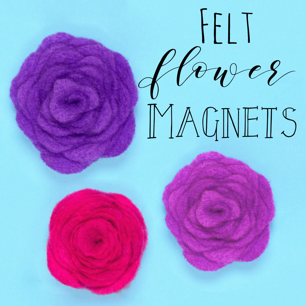 Make these lovely felt flower magnets with this craft tutorial. This is a great craft for a Mother's Day DIY gift, or make for yourself to decorate the fridge!.