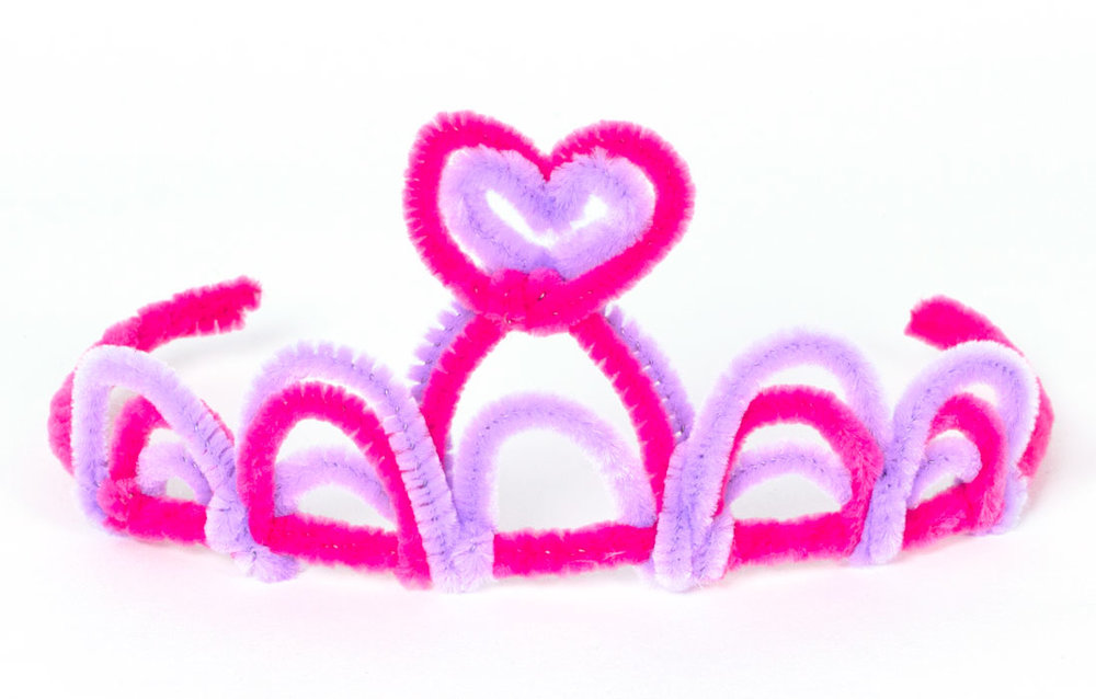 Step 4  Take a purple pipe cleaner and repeat the loop pattern that you have made with the pink pipe cleaners, however make them slightly smaller so they fit inside the pink loops. Repeat this again, however this time make the loops slightly larger.  Subscribe to my  newsletter  to receive fun craft ideas and freebies!  Please note: this blog post contains affiliate links, however all opinions are my own and I only link to products that I personally recommend.