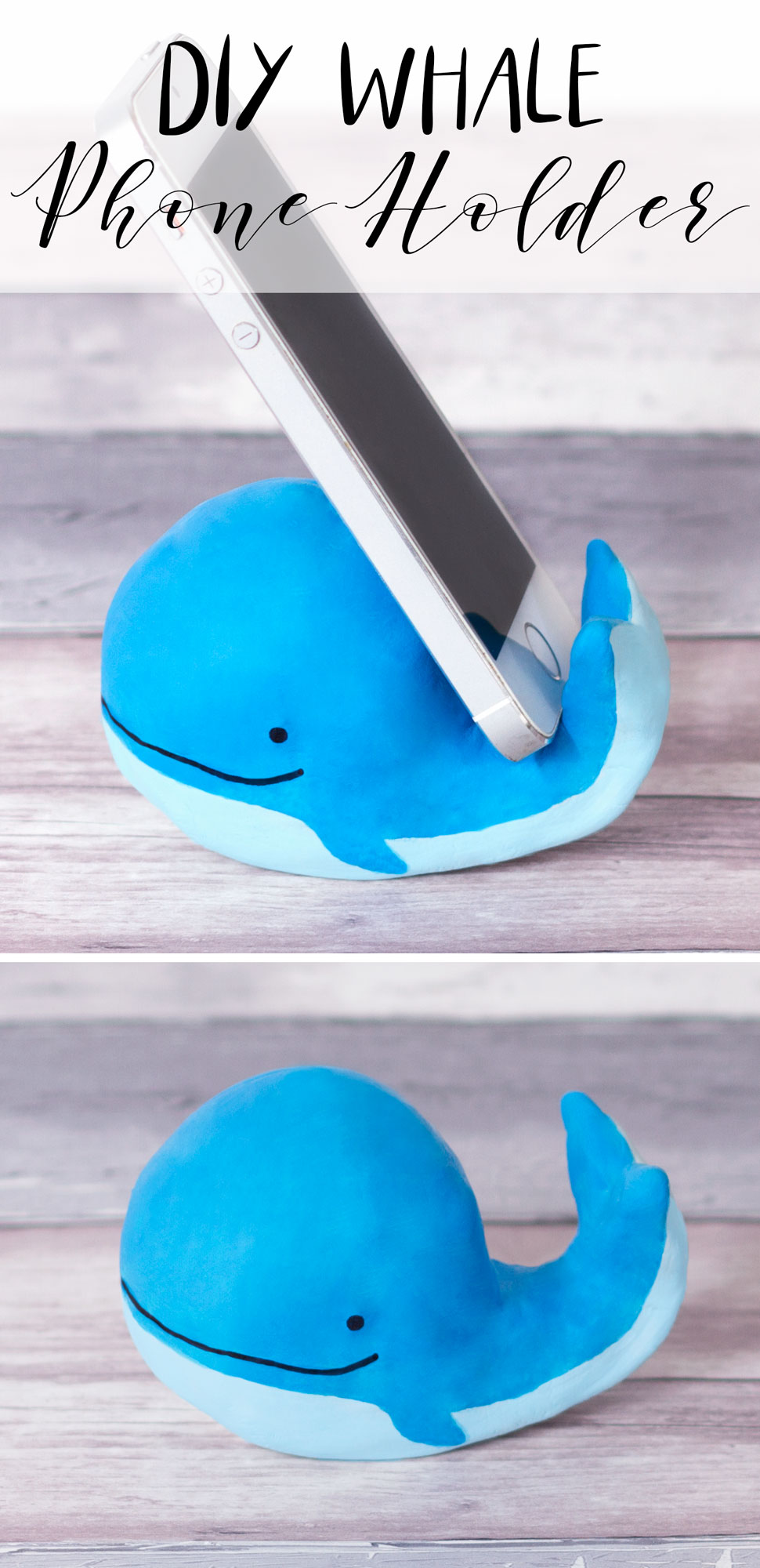 Make yourself a fun whale phone holder from air dry clay with this craft. You could try making a range of different animals following this same idea.  Instructions here .
