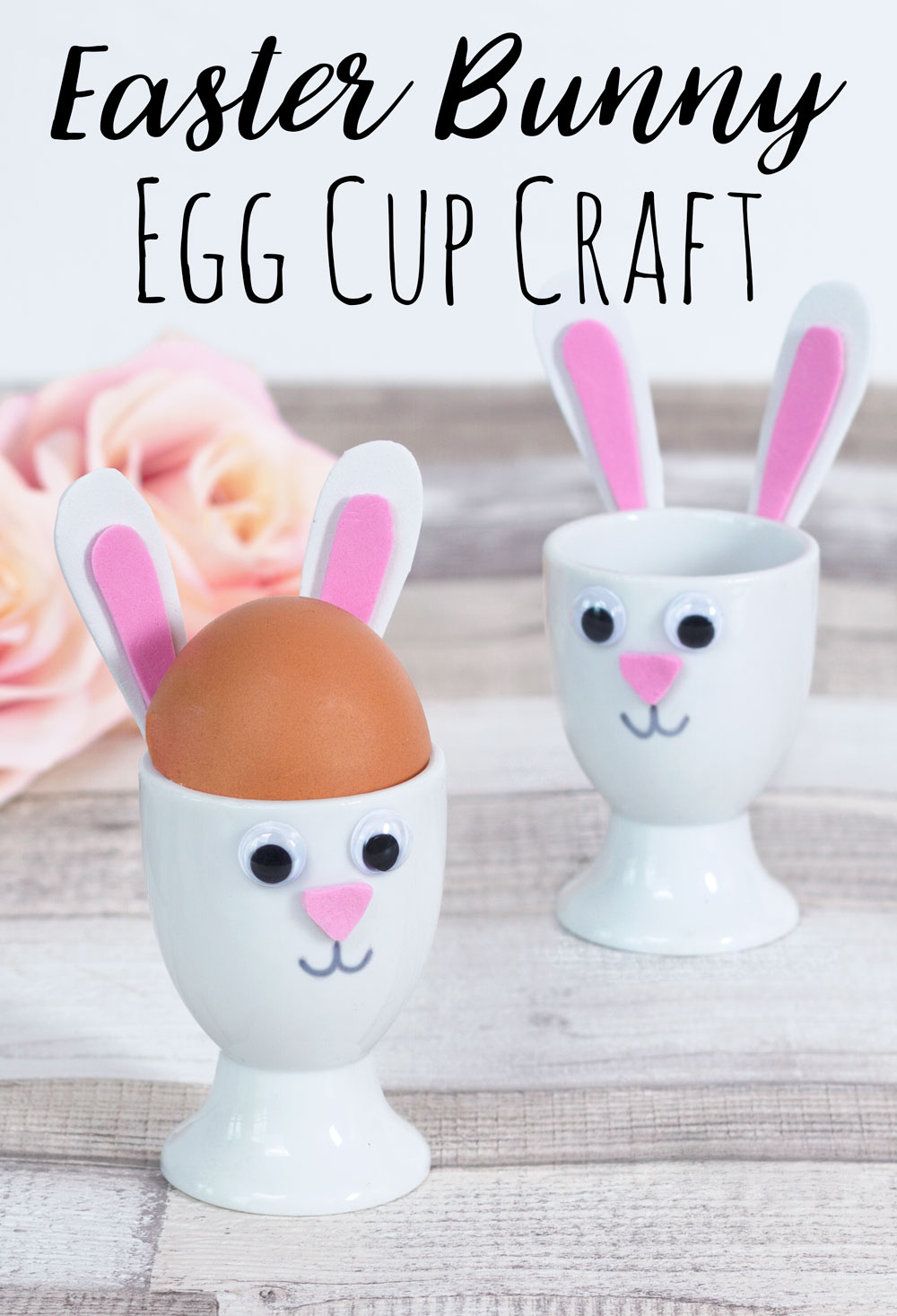 easter bunny egg cup craft
