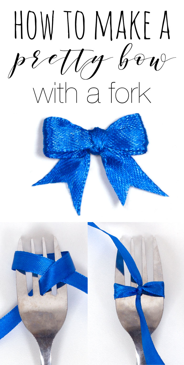 How to make a bow with a fork