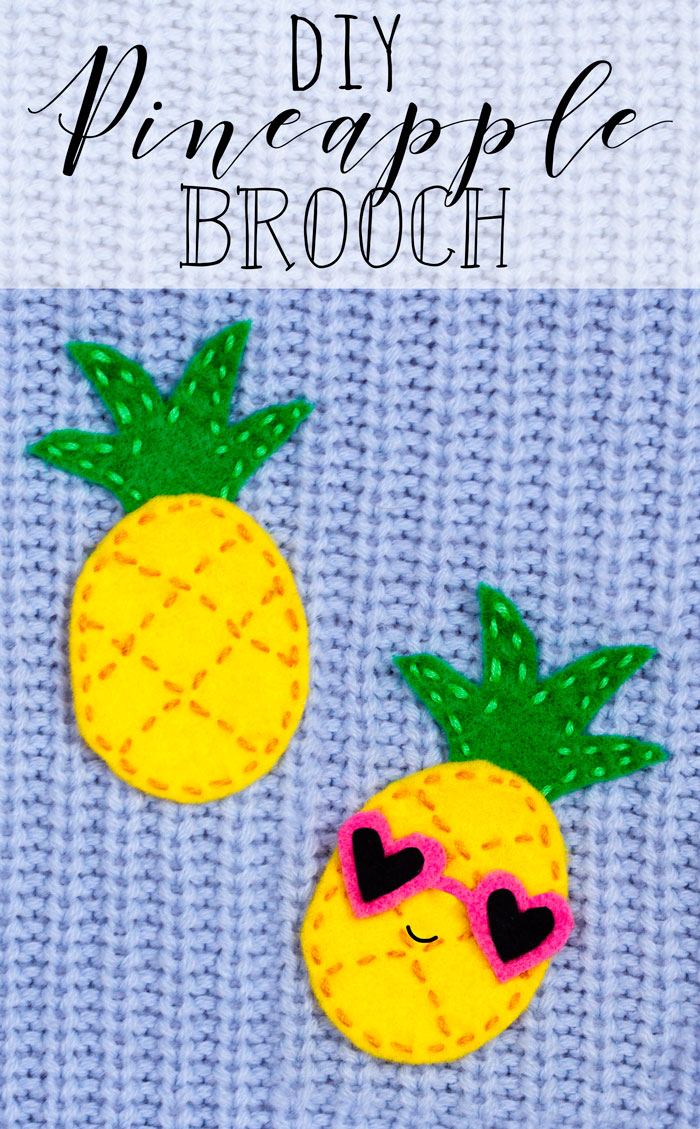 diy pineapple brooch sewing craft