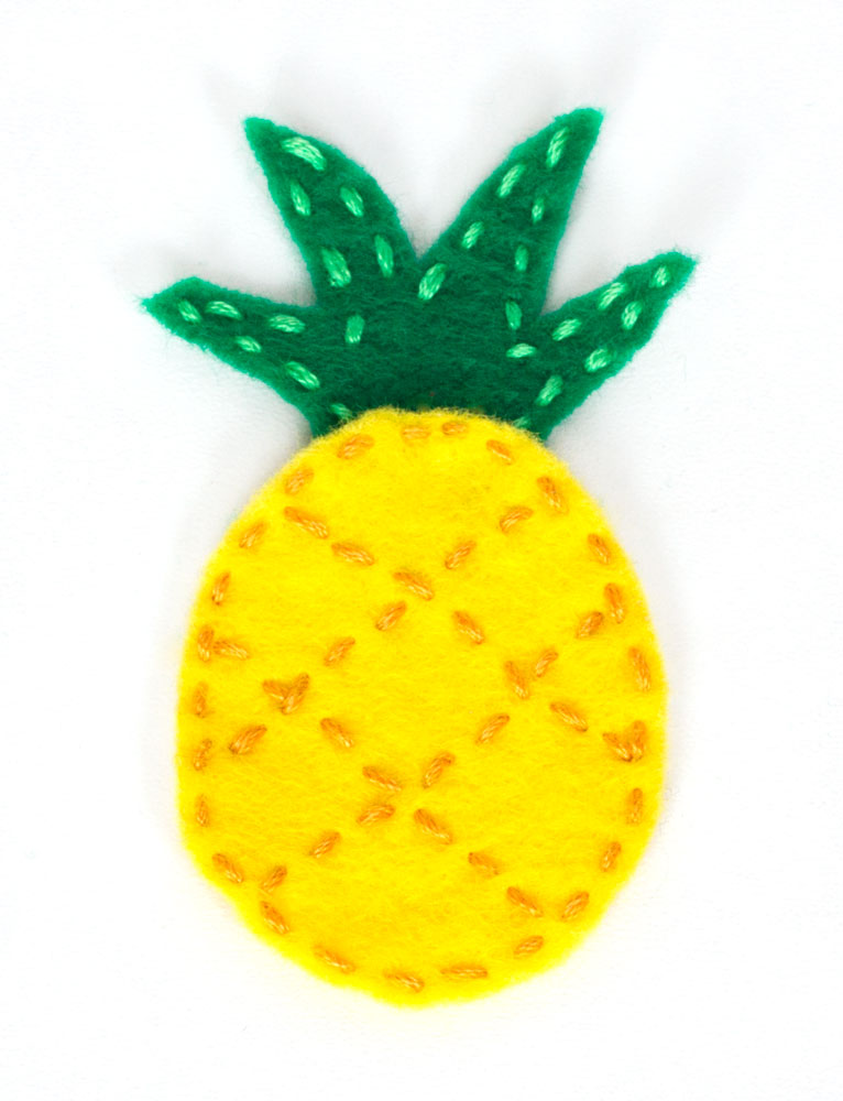 diy pineapple felt craft