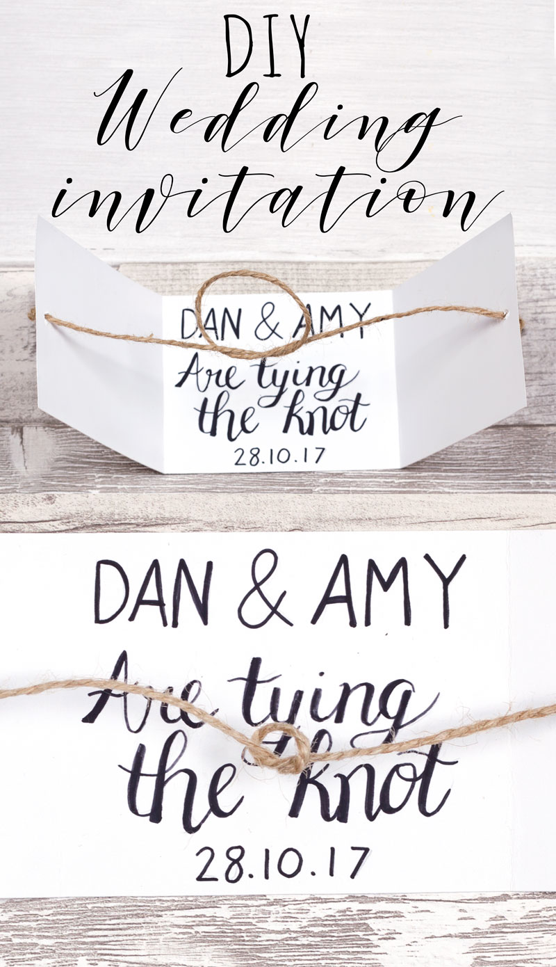 Diy Wedding Invitation Craft