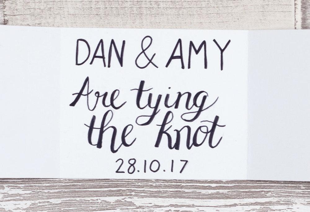 diy wedding invite craft