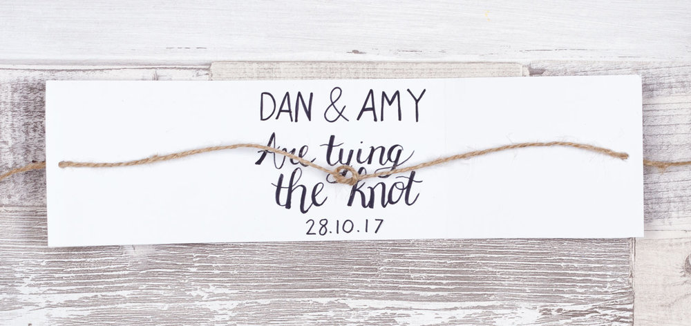diy wedding invite
