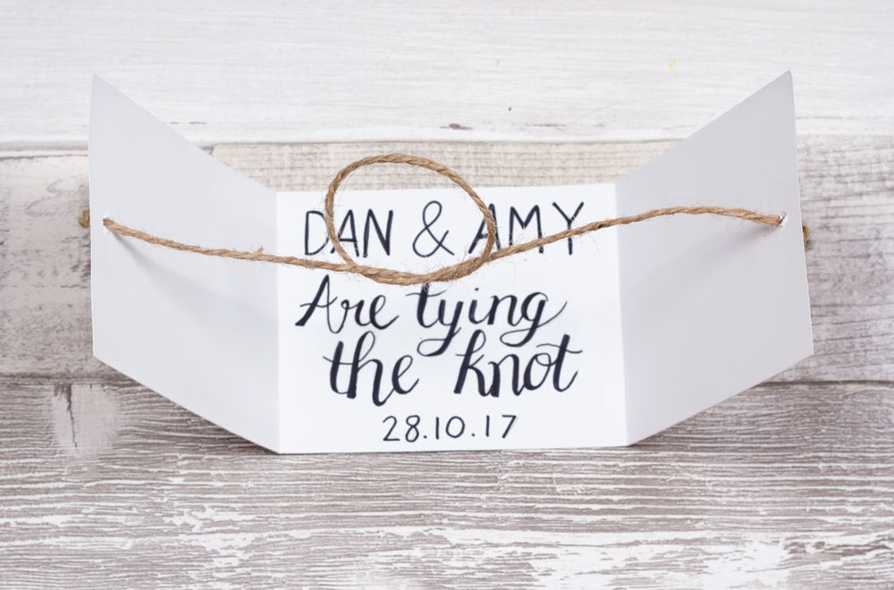 diy wedding invite craft idea