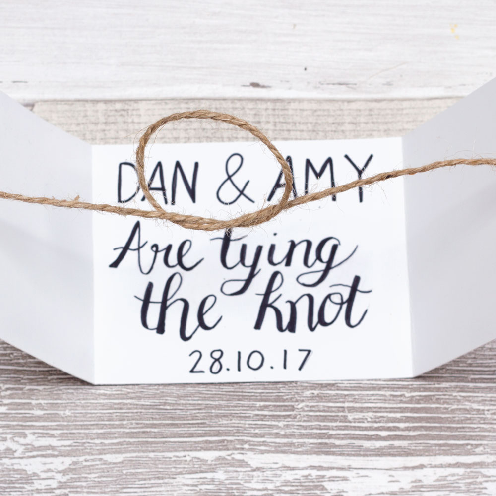 Diy Tie The Knot Wedding Invitation Doodle And Stitch