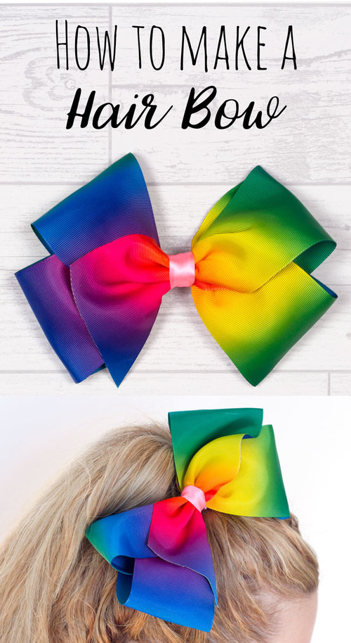 jojo bows are so popular right now so i thought i would make a tutorial to show you how you can make your own this is a really fun craft to make