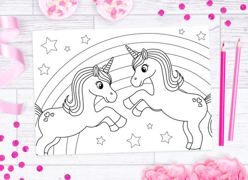 Download This Pretty Rainbow Unicorn Sheet For Free And Print It Out As Many Times You Like Would Be A Great Kids Activity Themed