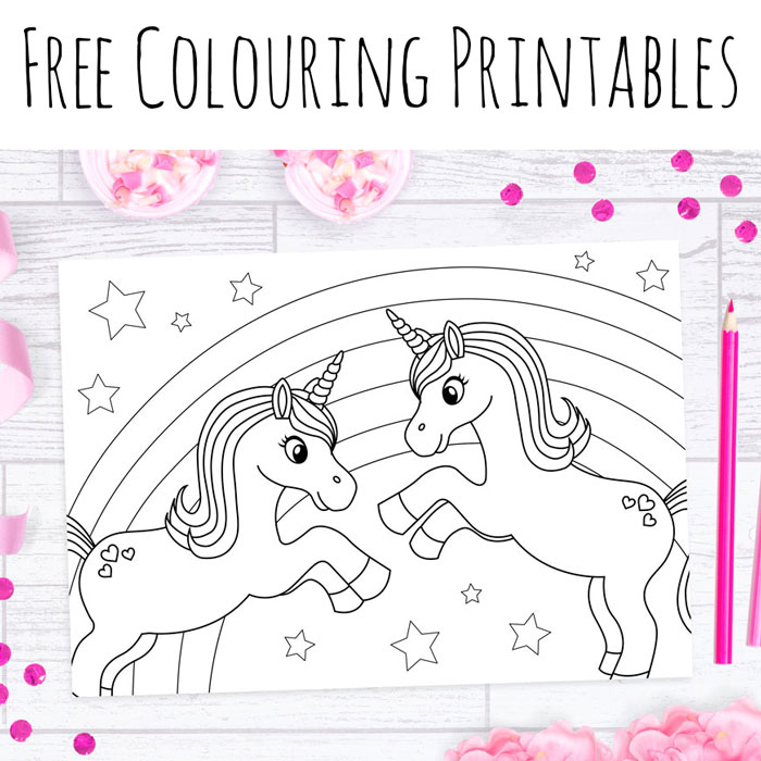 free unicorn colouring sheets - Picture For Colouring