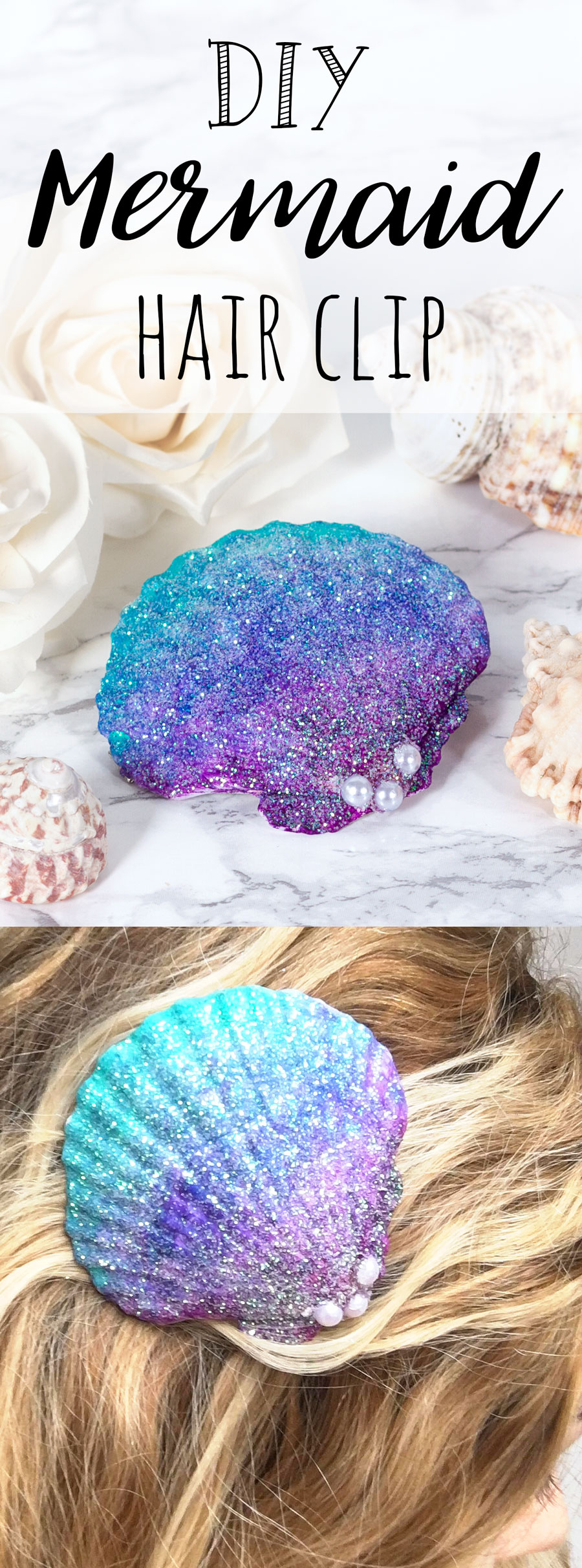 mermaid shell craft