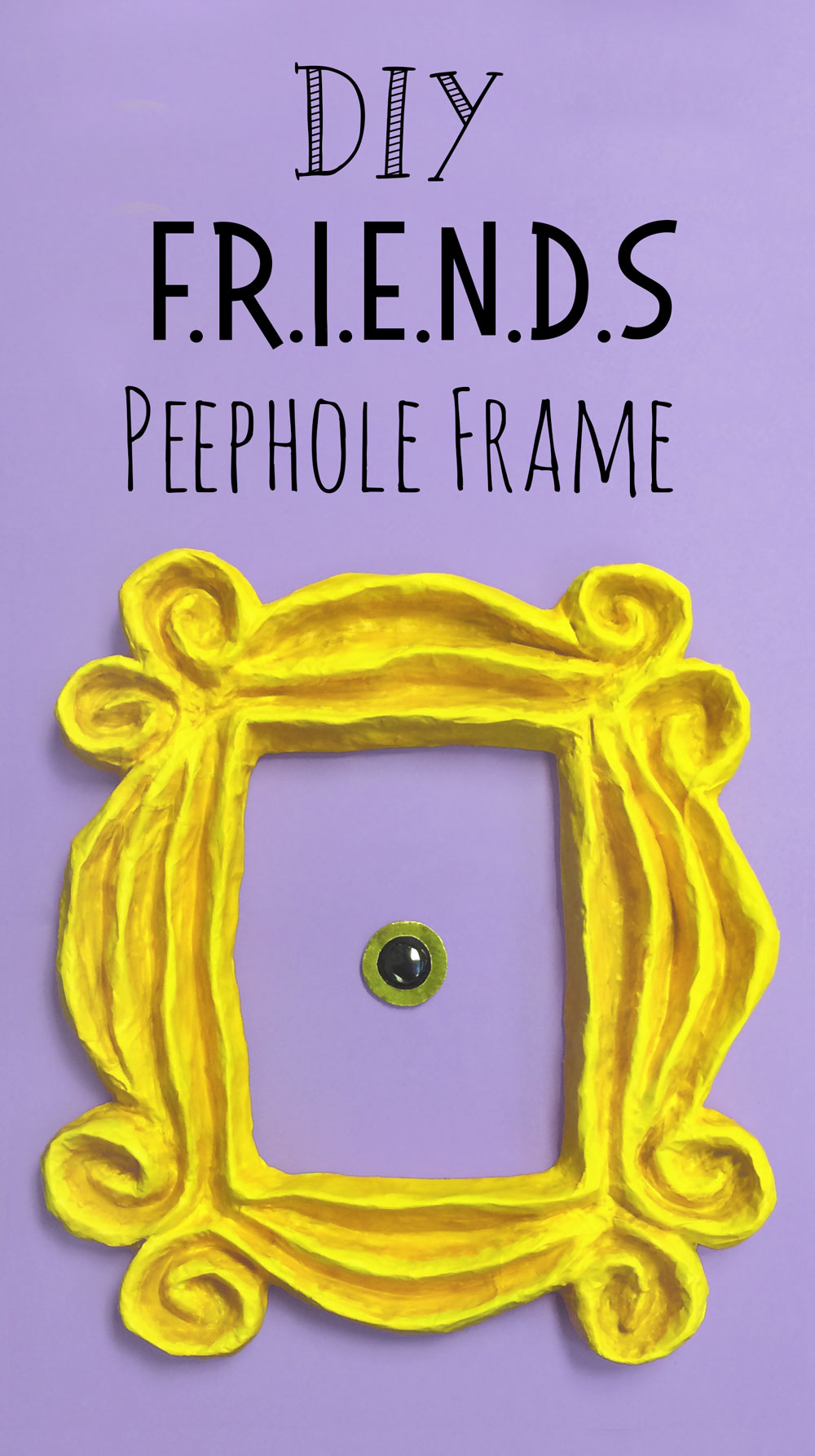 Diy Friends Peephole Frame Doodle And Stitch