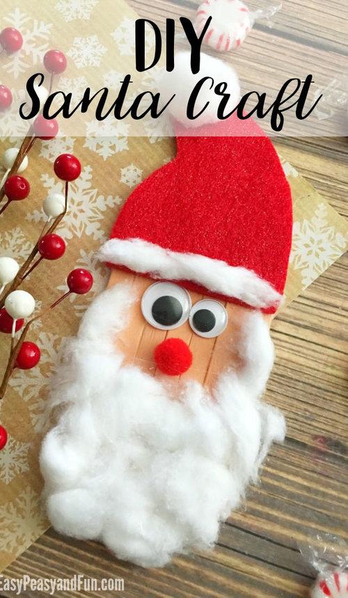 craft sticks santa craft 2jpg - Santa And Christmas 2