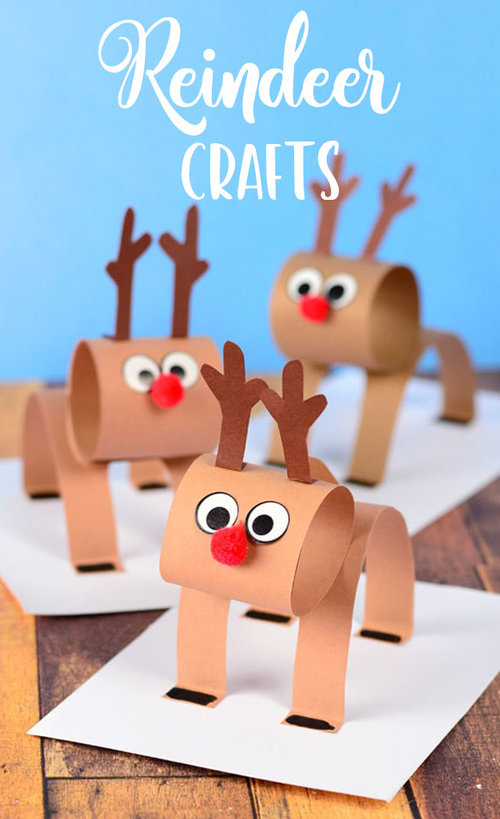 3d construction paper reindeer craft for kids 1 - Christmas Reindeer Pictures