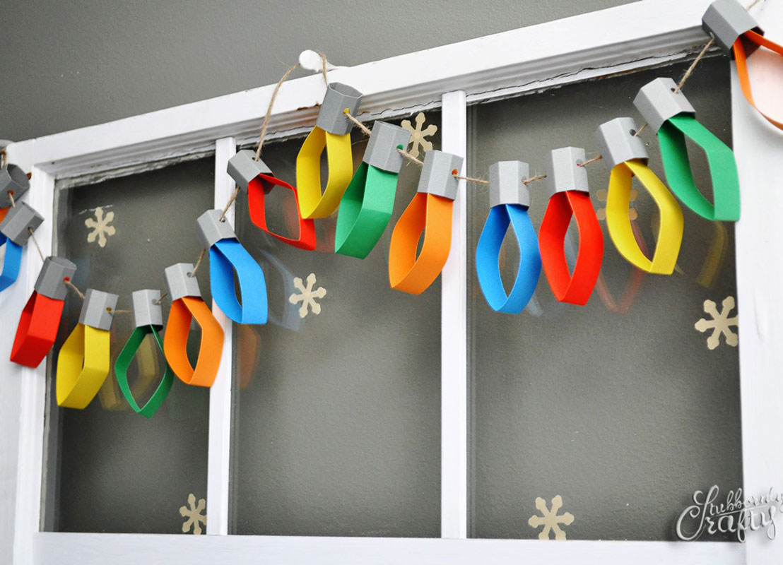 Christmas Lights Paper Garland Doodle And Stitch