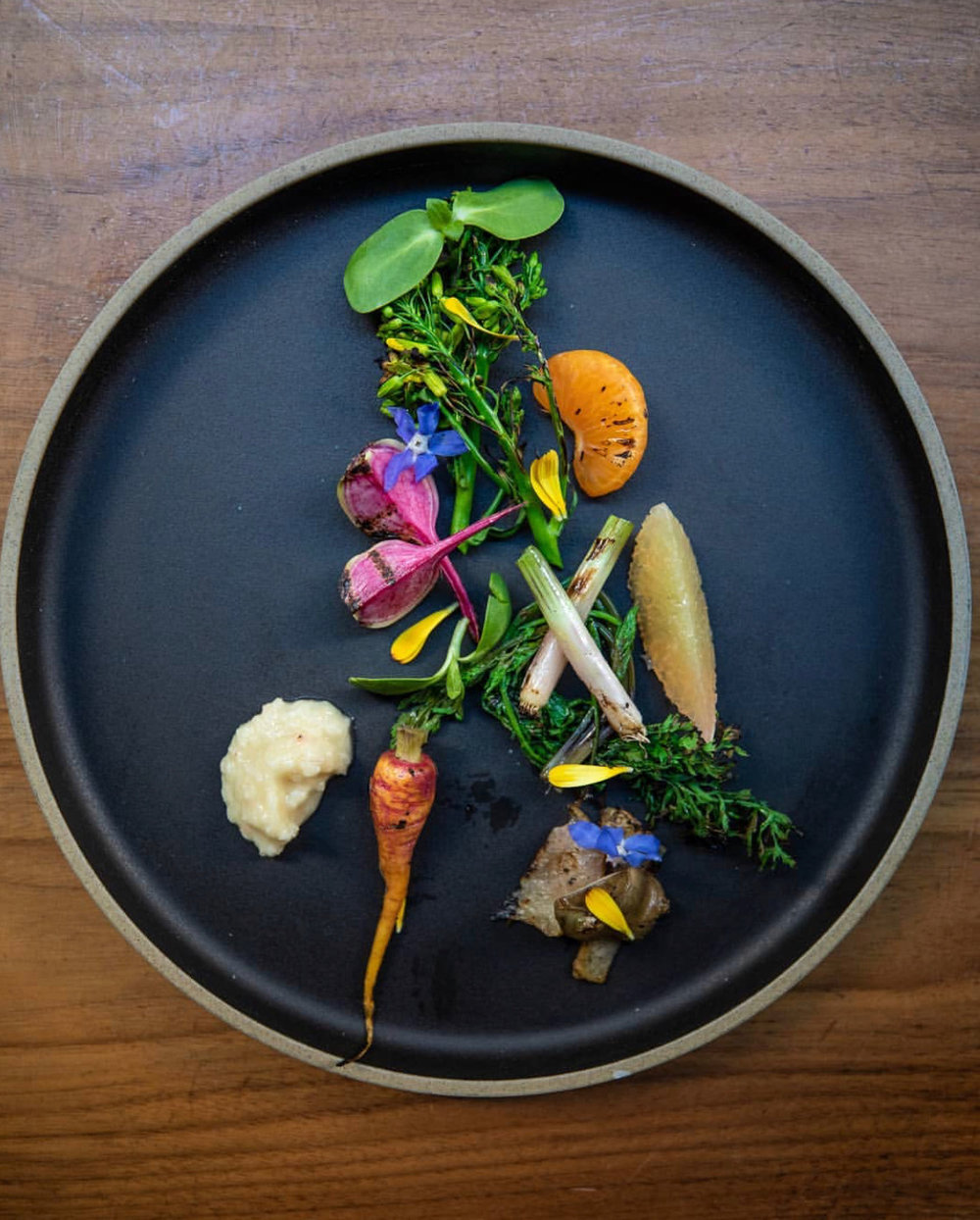 Chef Josef Centeno creation featuring our produce at Orsa & Winston