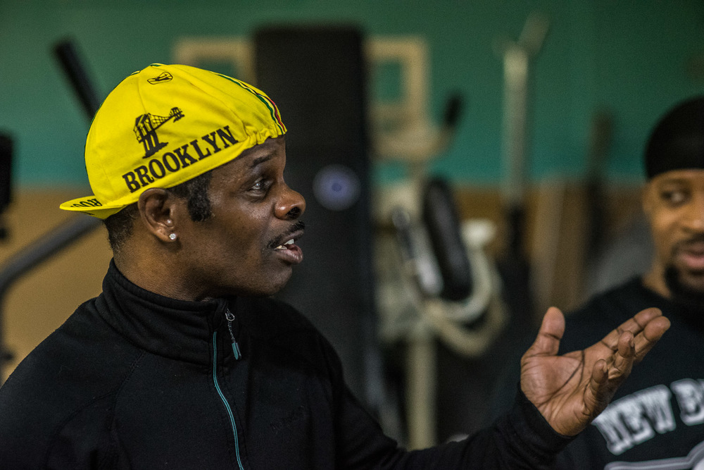 """Bedstuy, we do, we don't die"", says former world champion fighter Henry 'Hot Pepper' Brent."