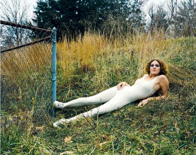 Katy Grannan, Sugar Camp Road: Danielle, Vacant Lot, Burleigh Road, New Paltz, NY, 2003