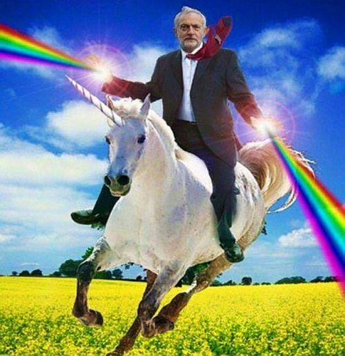 jeremy corbyn rainbow horse.jpg