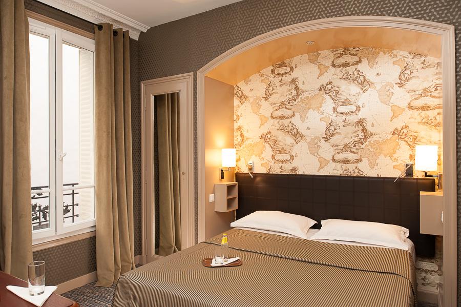 Chambre hôtel Paris photographie architecture rénovation NOOOR
