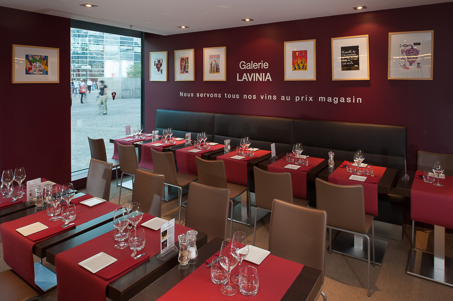 Restaurant LAVINIA photographie agencement architecture boutique