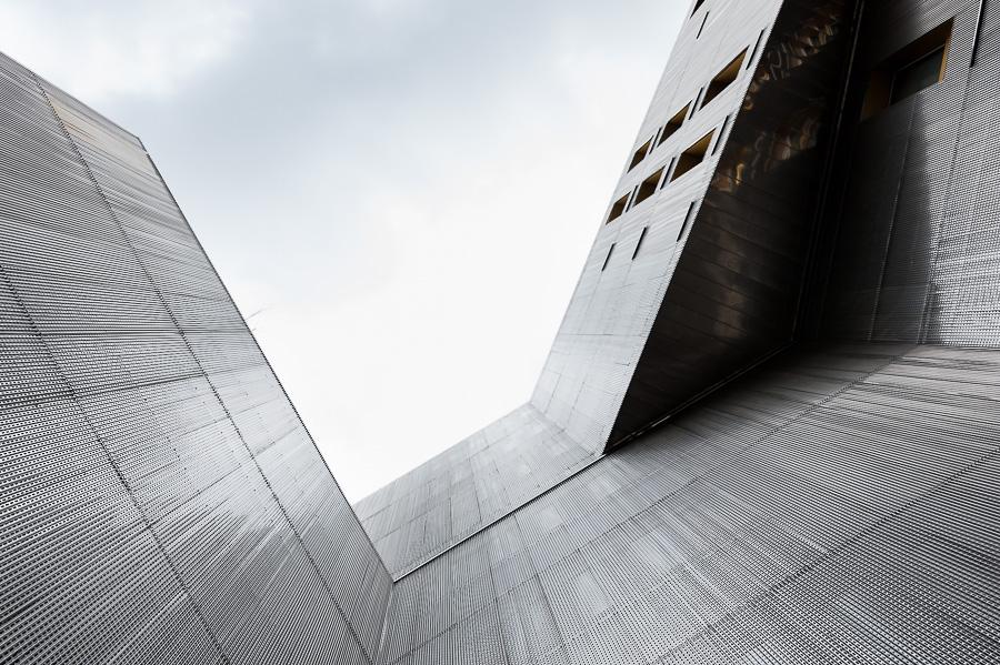 Rungis photographie architecture exterieure facade metal Paris