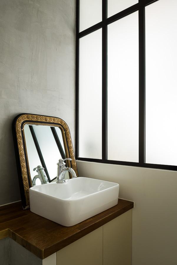 Appartement Paris photographie architecture intérieure salle de bain